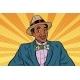 Retro American Businessman with Dollar Tie