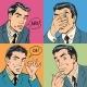 Set Of Four Retro Emotional Businessman
