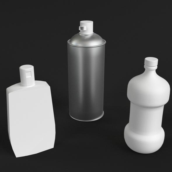 Bathroom Bottles Set - 3DOcean Item for Sale