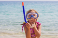 Little Girl Vacation Beach Sea