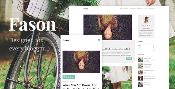 Fason - Fashion Magazine and Lifestyle WordPress Theme