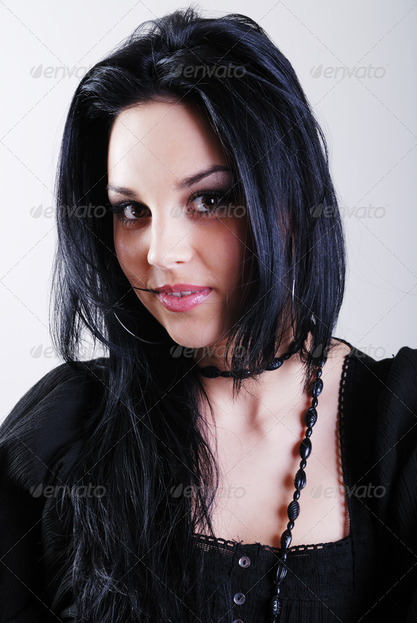 brunette woman - Stock Photo - Images