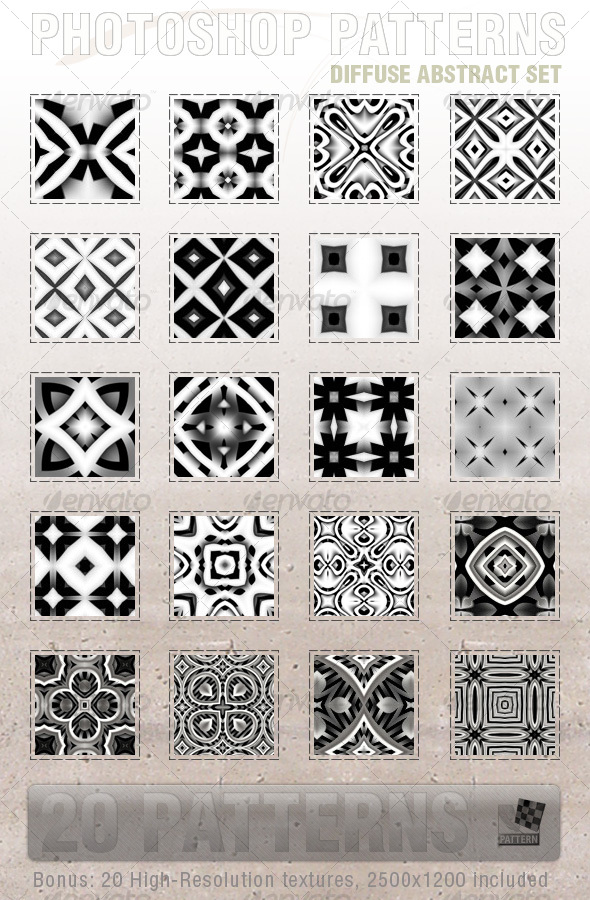 20 Diffuse Abstract Patterns - Textures / Fills / Patterns Photoshop