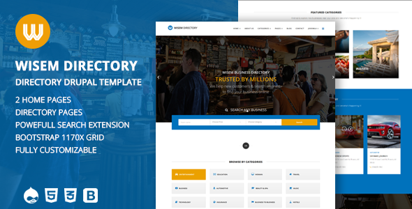 Image of Wisem – Responsive Directory template for Drupal