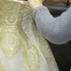 Back View Hands Lace Up White Wedding Dress Silk Corset