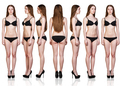 Set of woman figures