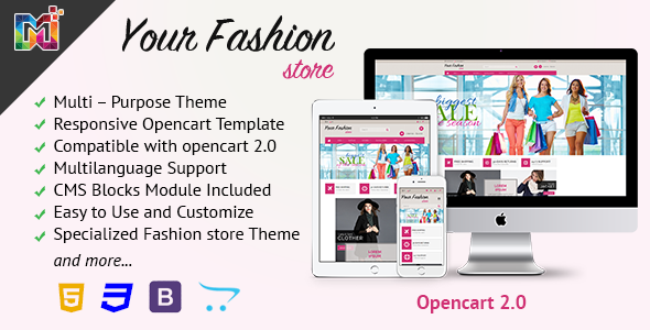 Fashion Store Responsive – OpenCart Template (Fashion) Download