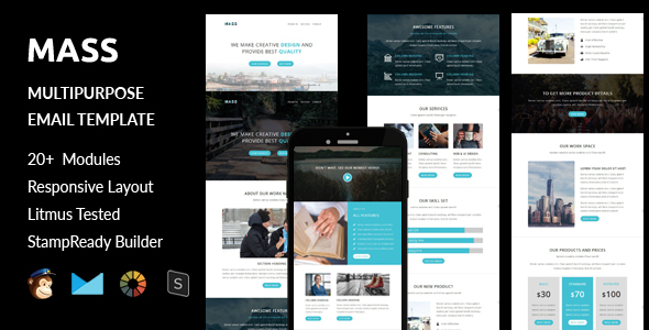 Download MASS - Multipurpose Responsive Email Template + Stampready Builder Online Access nulled download