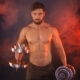 Strong Sportsman Lifting Heavy Dumbbells In Smoke