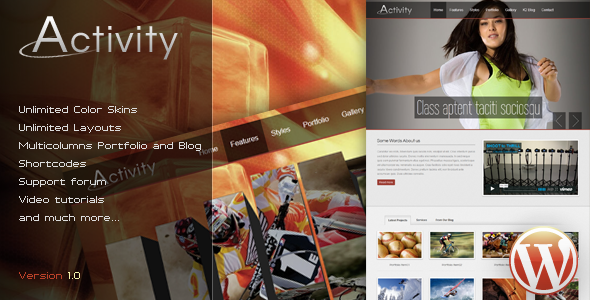 ThemeForest Activity Premium WordPress Theme 1811859