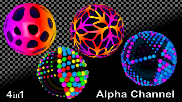 VideoHive Creative Disco Ball 4-Pack 18502975