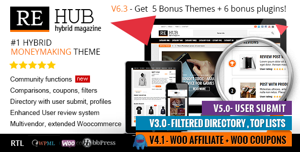 REHub - Directory, Multi Vendor Shop, Coupon, Affiliate Theme