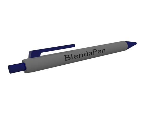 Retractable Pen - 3DOcean Item for Sale