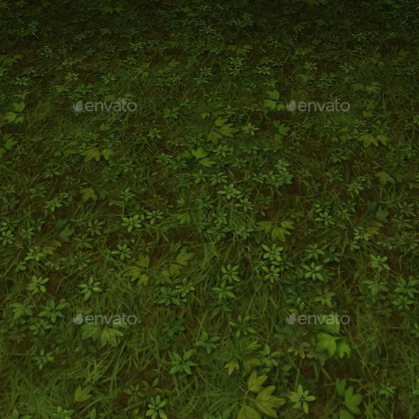 ground grass tile 8 - 3DOcean Item for Sale