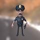 Policeman cartoon character with baton