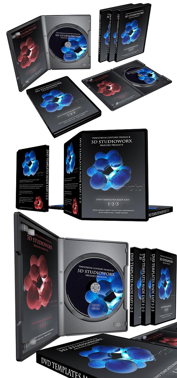 3DOcean DVD cases 71064