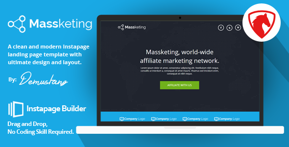 Massketing - Instapage Landing Page Template