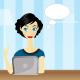 Bloggin girl - GraphicRiver Item for Sale