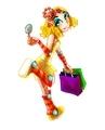 Shopping Girl Robot Mascot