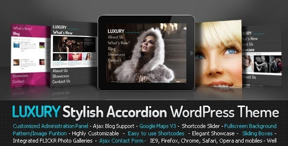 ThemeForest Luxury Stylish Accordion Wordpress Theme 1823987