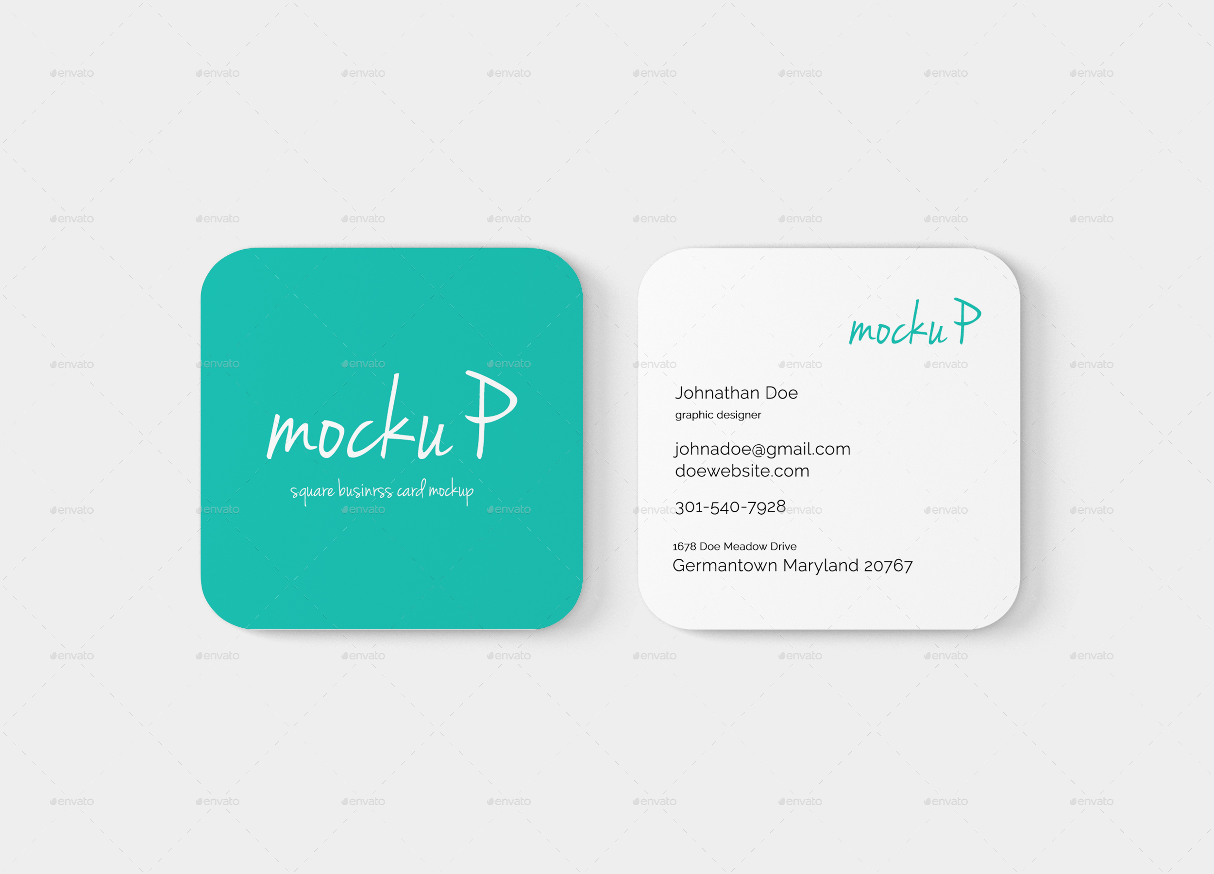 Luxury Collection Square Business Card Mockup Business Cards