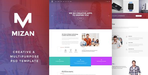 MIZAN  - Creative & Multipurpose PSD