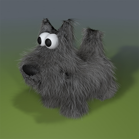 3DOcean Cartoon Scottish Terrier dog model 18516194
