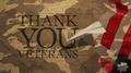 Veterans Day. Thank you Veterans.