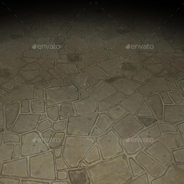 ground stone tile 8 - 3DOcean Item for Sale