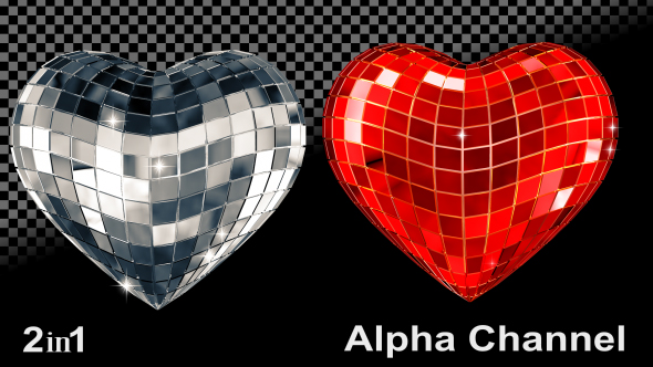 VideoHive Silver Red Heart 2-Pack 18518302