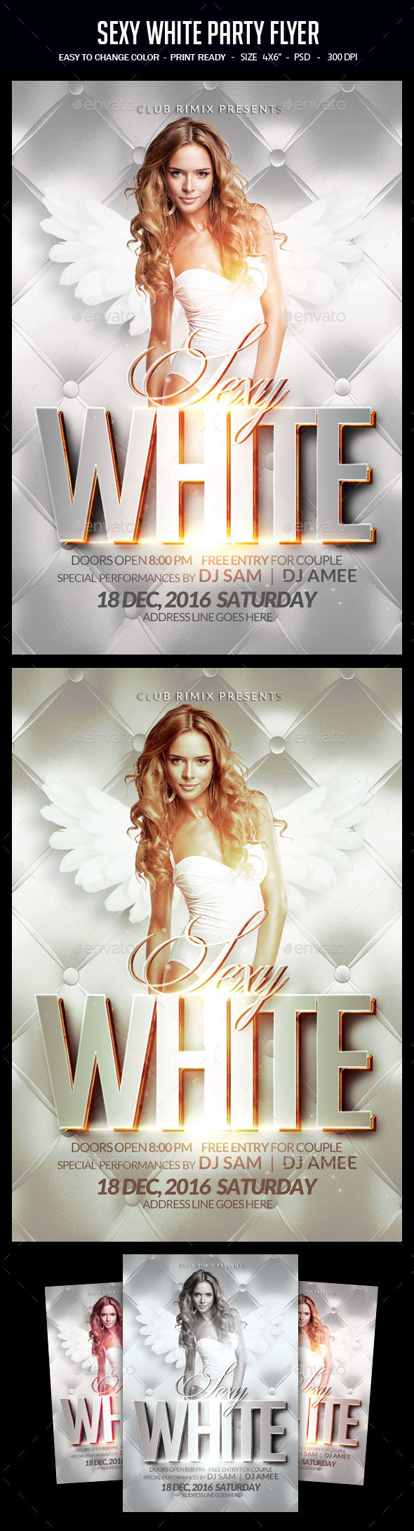 Sexy White Party Flyer