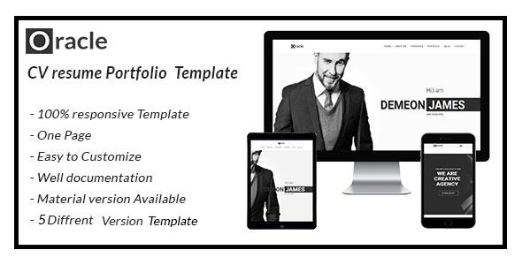oracle CV Resume Personal  Template