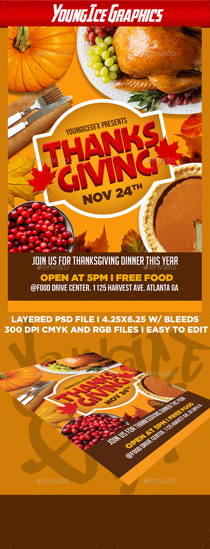 Thanksgiving Flyer Template V2