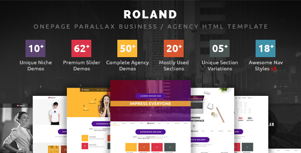 Roland - OnePage Parallax Business / Agency HTML Template