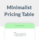 Minimalist Pricing Table