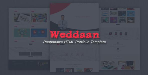 Weddaan - Responsive HTML Portfolio Template
