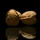 Walnuts Food on Bladk Background