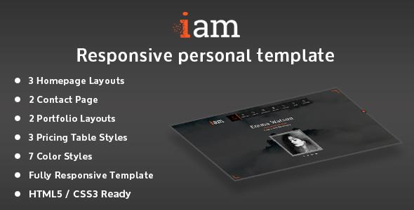 iam - Resume / Portfolio / Personal Responsive HTML Template