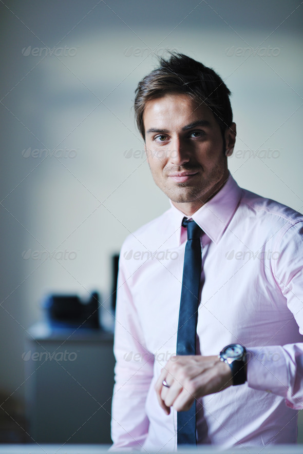 young businessman at office - Stock Photo - Images