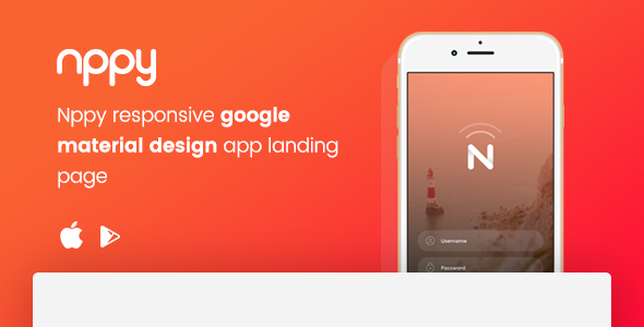 Nppy - Material Design App Landing Page