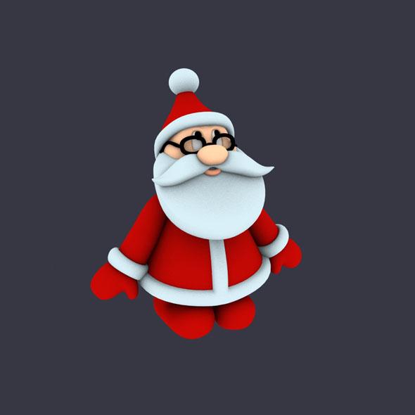 Funny Santa Pose 1 - 3DOcean Item for Sale