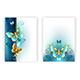 Design for Brochure with Luxury Butterflies