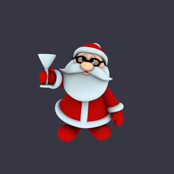Funny Santa Pose 2 - 3DOcean Item for Sale