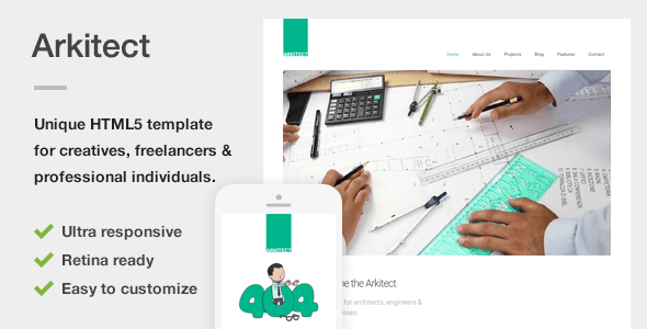 Arkitect – A Professional HTML5 Template for Architects and Engineers (Business) Download