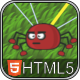 Tangled Spiders - HTML5 Phaser Puzzle Game