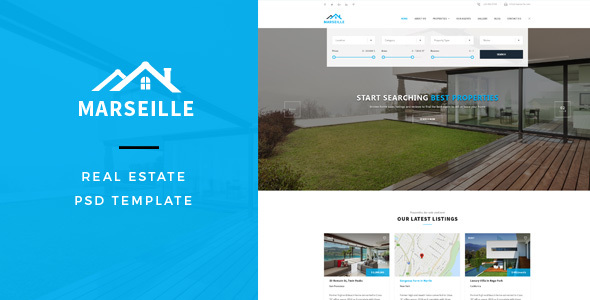 Marseille : Real Estate PSD Template