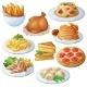 Set Of Food Icons Isolated On White Background