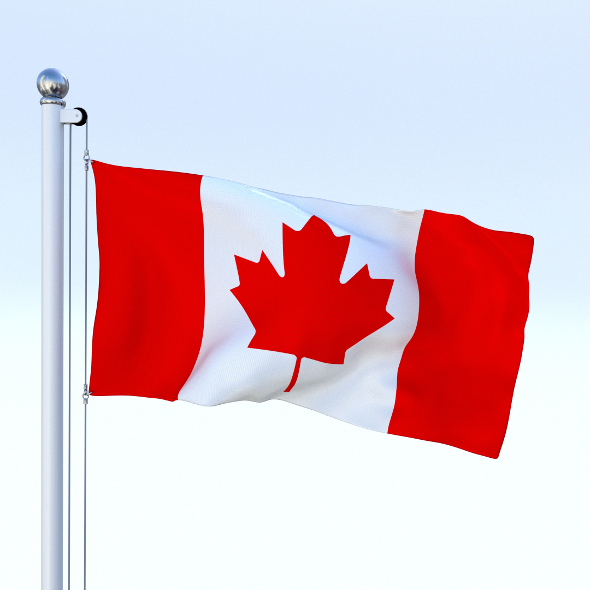 Animated Canadian Flag - 3DOcean Item for Sale