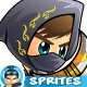 Assassin 2D Game Character Sprites 268