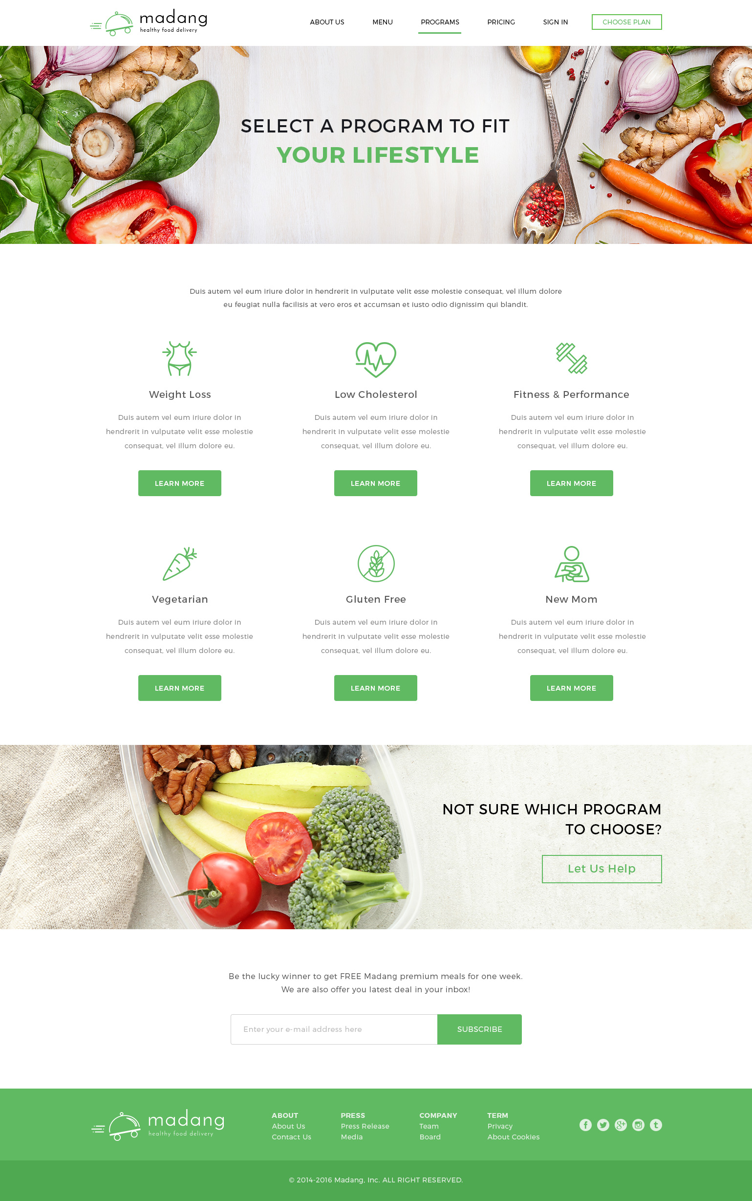madang healthy food delivery psd template by peterdraw themeforest. Black Bedroom Furniture Sets. Home Design Ideas